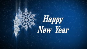 Happy new year snowflake stock video