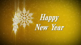 Happy new year snowflake stock footage