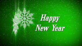 Happy new year snowflake stock video footage