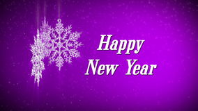 Happy new year snowflake stock illustration