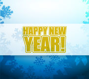 Happy New Year snowflake light sign Royalty Free Stock Images