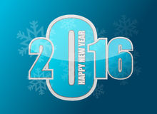 Happy new year snowflake 2016 sign. Illustration design graphic Stock Photo