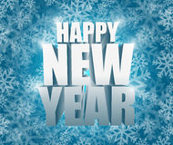 Happy new year snowflake winter card illustration Royalty Free Stock Images