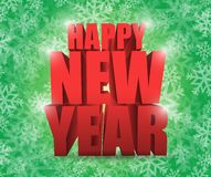 Happy new year snowflake winter card. Illustration design over a green background vector illustration
