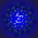 Happy new year. Snowflakes. Background colorful design. Happy new year. Snowflakes Royalty Free Stock Image