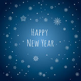 Happy New Year. Snowflakes background. Stock Images
