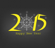 Happy new year snowflakes. Happy new year background and greeting card design Royalty Free Stock Image