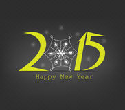 Happy new year snowflakes. Happy new year background and greeting card design Royalty Free Stock Photography