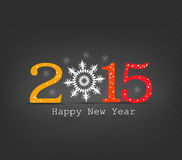Happy new year snowflakes. Happy new year background and greeting card design Stock Image
