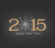 Happy new year snowflakes. Happy new year background and greeting card design Stock Photo