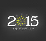 Happy new year snowflakes. Happy new year background and greeting card design Stock Photography