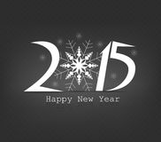 Happy new year snowflakes. Happy new year background and greeting card design Royalty Free Stock Photo