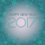 2017. Happy New Year. Snowflakes greeting card. Stock Image