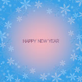 Happy New Year. Snowflakes greeting card. Royalty Free Stock Photos