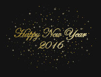 Happy new year, snowflakes, holiday, winter. Happy new year on a black background. Photo illustration Stock Images