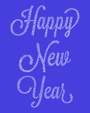 Happy New Year from snowflakes. Inscription happy new year snowflake Stock Photos