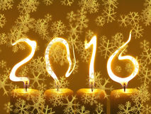 Happy new year 2016 - snowflakes Royalty Free Stock Images