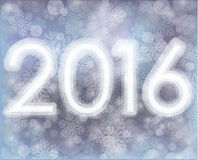 Happy 2016 New year snowflakes wallpaper Royalty Free Stock Photography