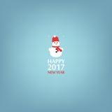 Happy New Year, Snowman. Minimalist style. 2017. Happy New Year, Snowman Minimalist style 2017 Stock Photos
