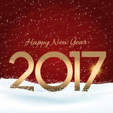 Happy New Year snowy background Stock Photo