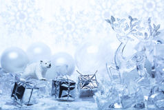 Happy New Year in snowy topics royalty free stock images