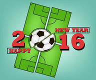 Happy new year and soccer Royalty Free Stock Photo