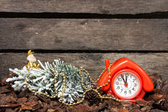 Happy New Year. Soon, soon the New Year. Christmas composition stock photo