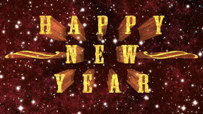 Happy New Year at space background Stock Images