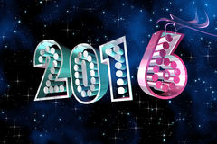 Happy New Year 2016 at space background Royalty Free Stock Images