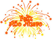 Happy_new_year_spanish Stock Images