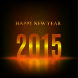 2015 happy new year, spark and glow particles. 2015 happy new year text with glow and shine environment Stock Photos
