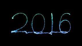 Happy new year 2016 (Sparkle firework) Royalty Free Stock Images
