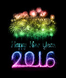 Happy new year 2016 with Sparkle firework Stock Photo