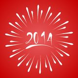 Happy new year 2014 and sparkler. Firework happy new year 2014 Royalty Free Stock Photography