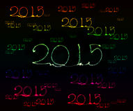 Happy New Year - 2015 sparkler Royalty Free Stock Photography