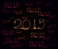 Happy New Year - 2015 sparkler Stock Photos