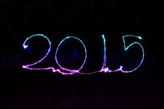 Happy New Year - 2015 sparkler. Happy New Year - 2015 made a sparkler Royalty Free Stock Image