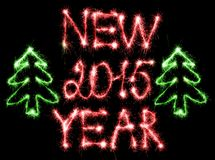 Happy New Year - 2015 with sparklers. Happy New Year 2015 made with sparklers stock illustration