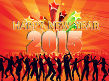 Happy New Year 2015. With sparkles Stock Images
