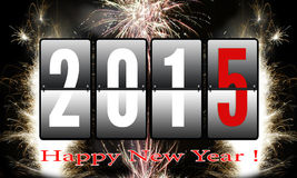 Happy New Year 2015. With sparkles royalty free illustration