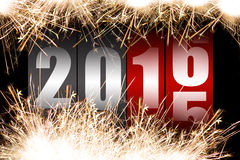 Happy New Year 2016. With sparkles Royalty Free Stock Photo