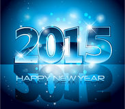 Happy New Year sparkles background card. Blue 2015 Happy New Year sparkles background card Stock Image