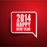 Happy new year 2014. Speech bubble Stock Photos