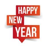 Happy New Year speech bubbles stock illustration