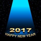 Happy new year 2017 Spotlight vector illustration. Rgb mode Stock Photos