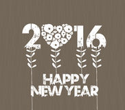 Happy new year 2016 with Stalks.  Stock Photo