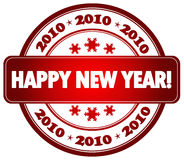 Happy New Year stamp Royalty Free Stock Photos