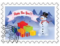 Happy New Year stamp Stock Photos