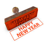 Happy new year stamp Royalty Free Stock Images