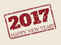Happy new year 2017 stamper design Stock Images